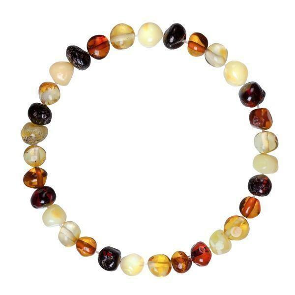 Adult Multi Amber Bracelet