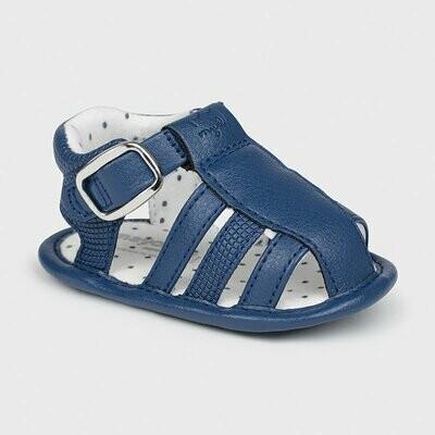 Navy Leatherette  Sandals 9396