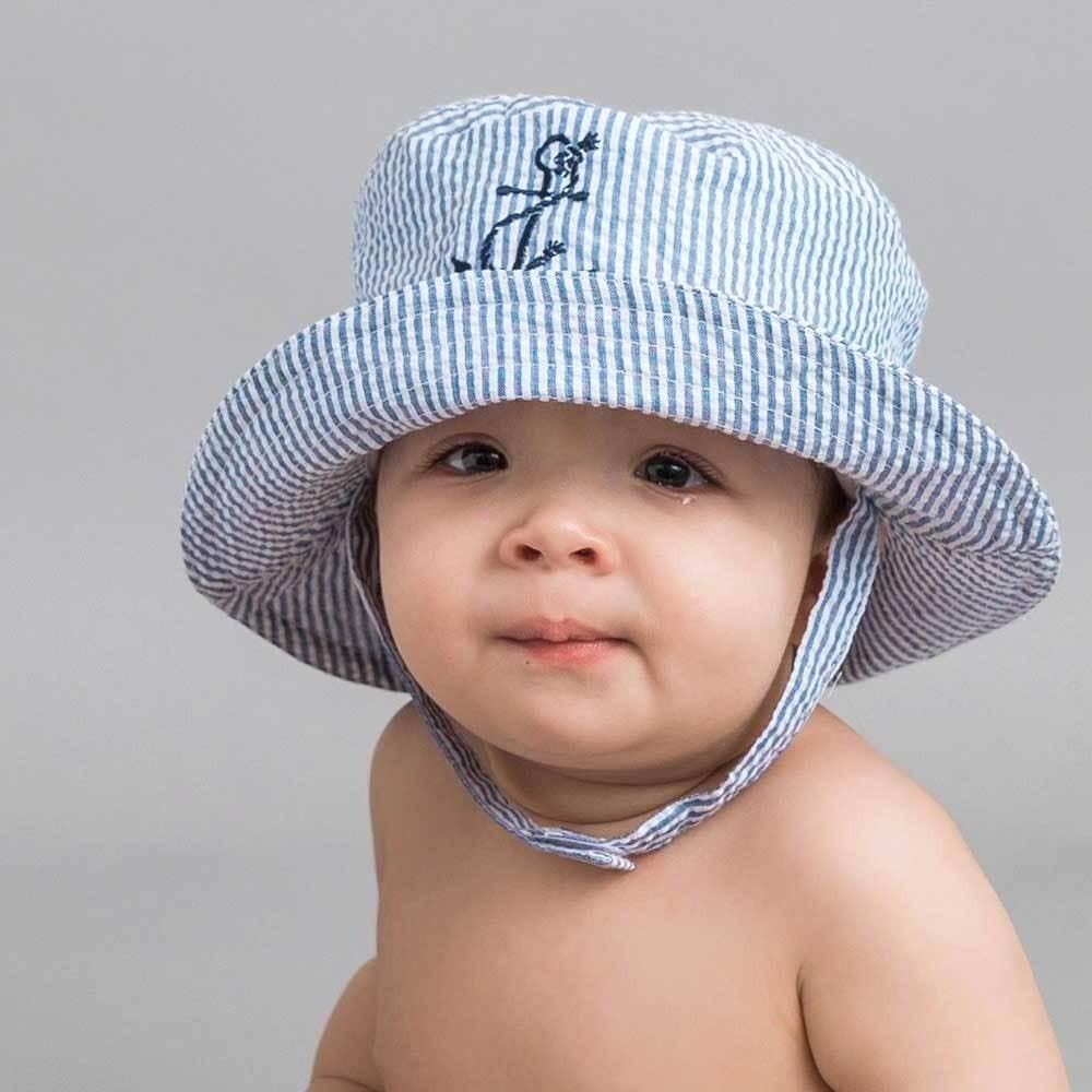 Anchor Seersucker Bucket Hat