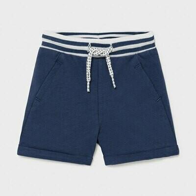 Navy Fleece Shorts 1212
