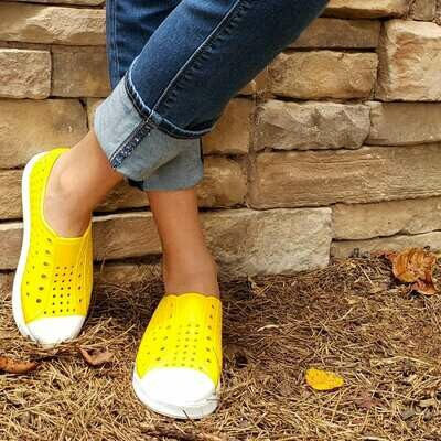 Yellow Water Shoes