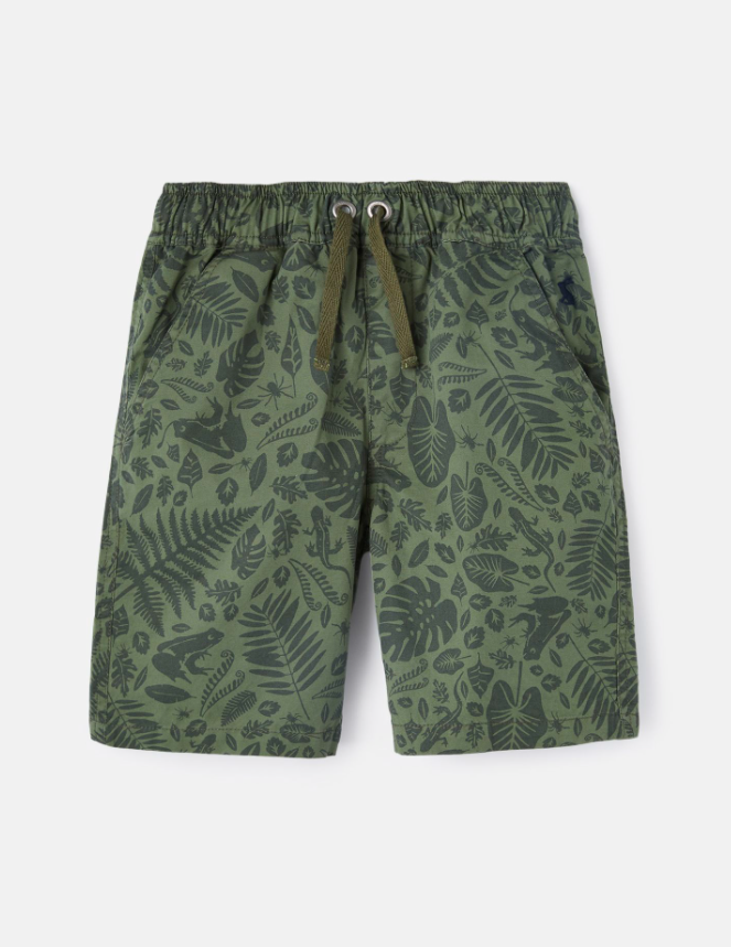 Huey Shorts - Green Foliage Print