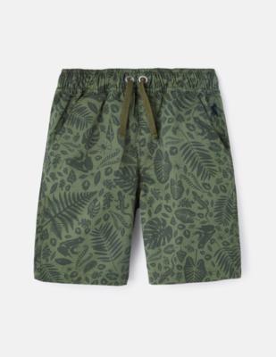 Huey Shorts - Green Foliage Print