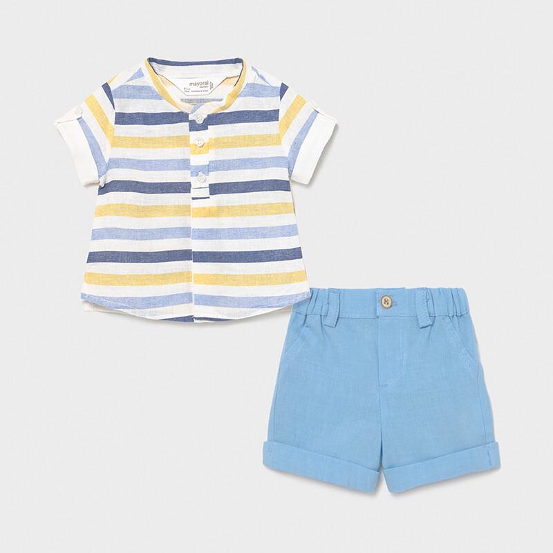 Linen Shorts Set 1217