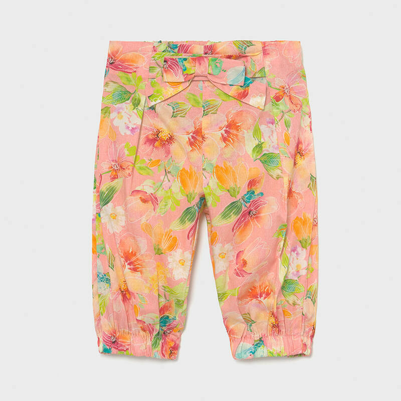 Floral Print Linen Pants 1578