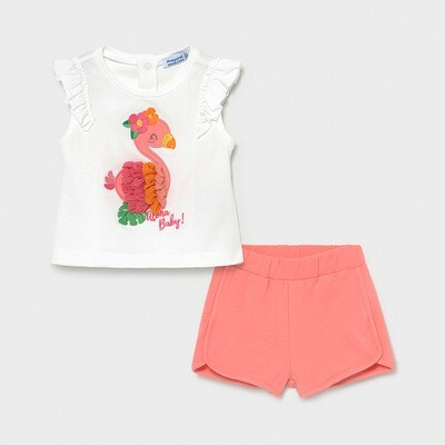 Flamingo Shorts Set 1232