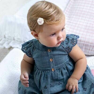Denim Eyelet Dress 1810