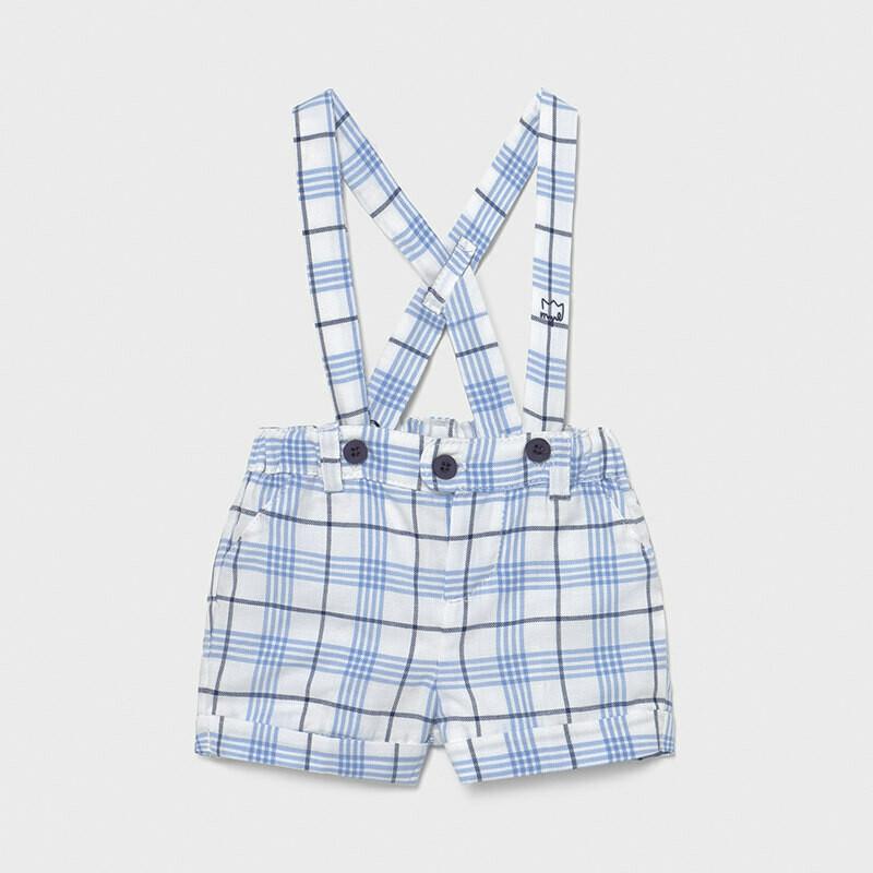 Checked Suspender Shorts 1209