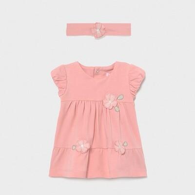 Pink Knit Dress & Headband 1806