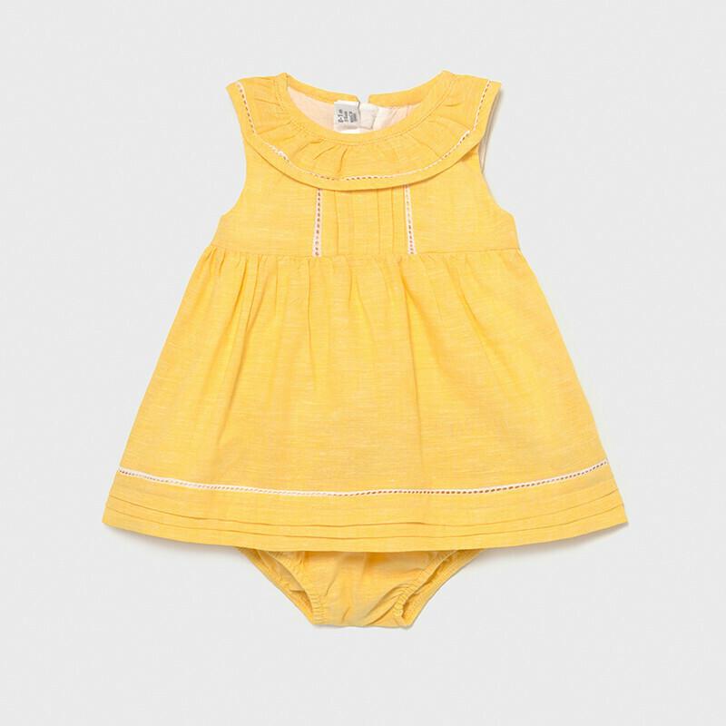 Yellow Linen Dress 1834