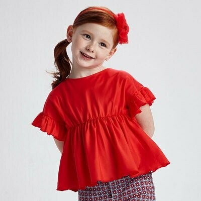 Red Ruffle Blouse 3194