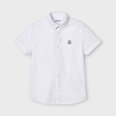 White Short Sleeve Dress Shirt 3121