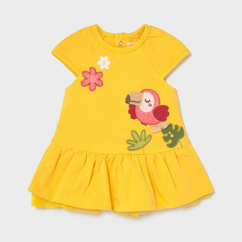 Yellow Toucan Dress 1838
