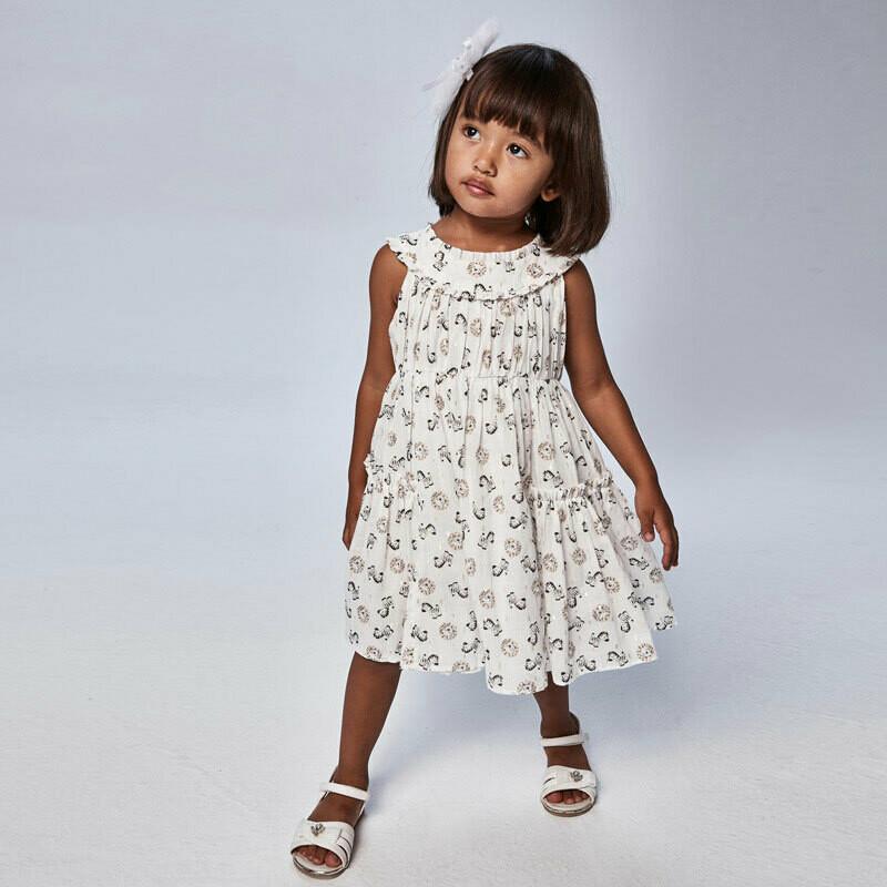 Zoo Print Voile Dress 3943