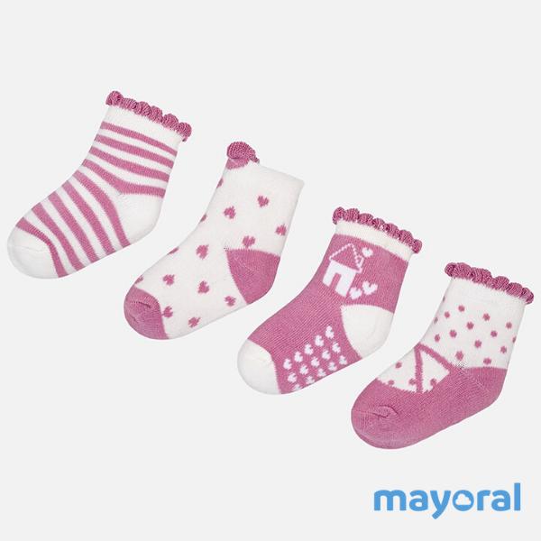 Mauve Sock Set 9896 12m