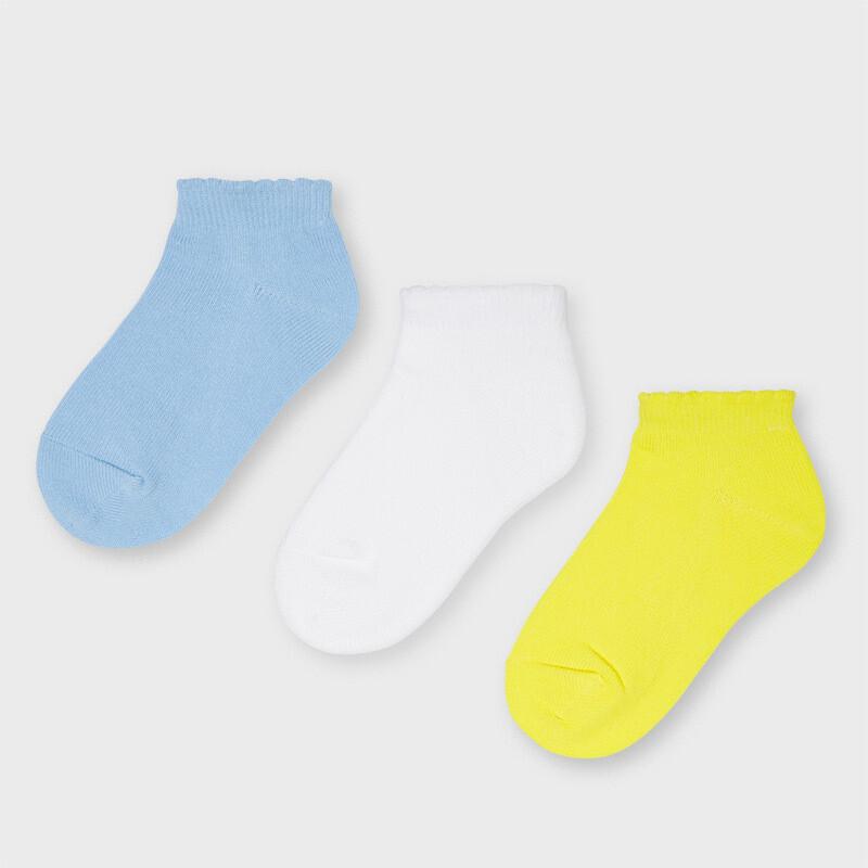 Blue 3pk. Socks 10058