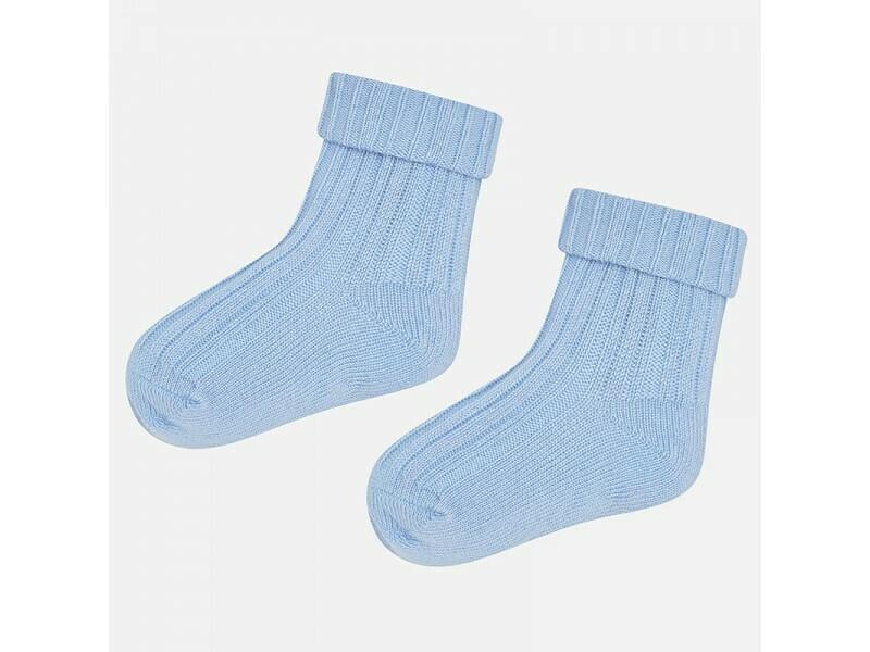 Blue Ribbed Socks 9033 12m