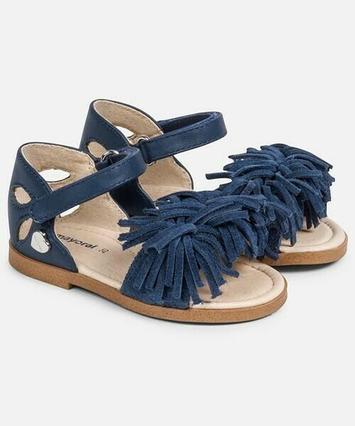 Blue Pompom Sandals 41860
