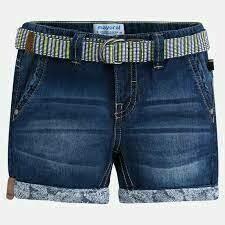 Belted Denim Shorts 3252B-7