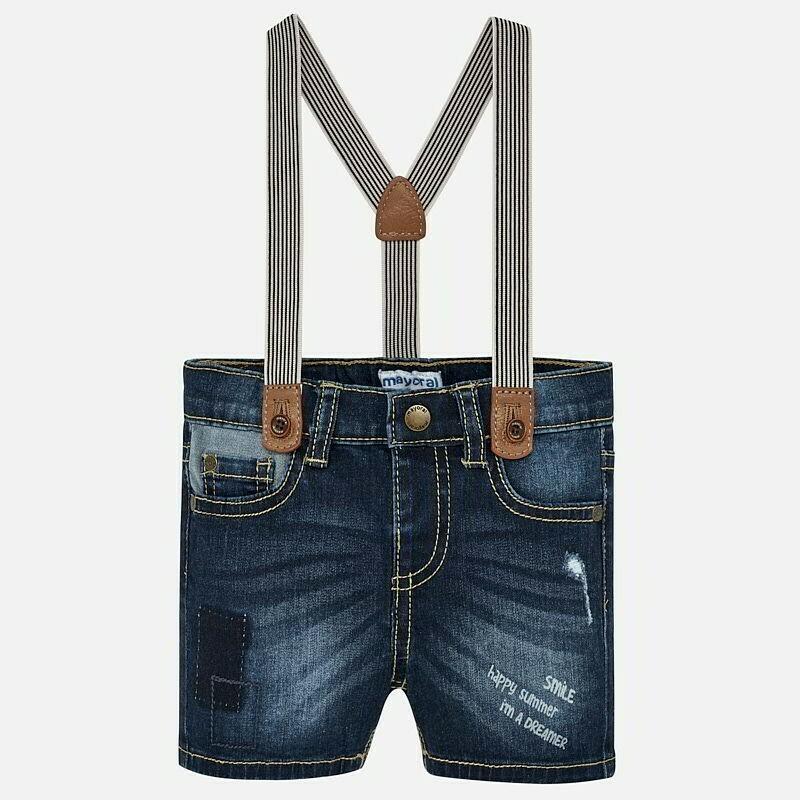 Denim Suspender Shorts 1247 24m