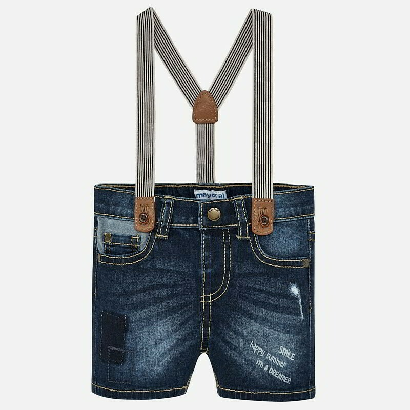 Denim Suspender Shorts 1247 6m