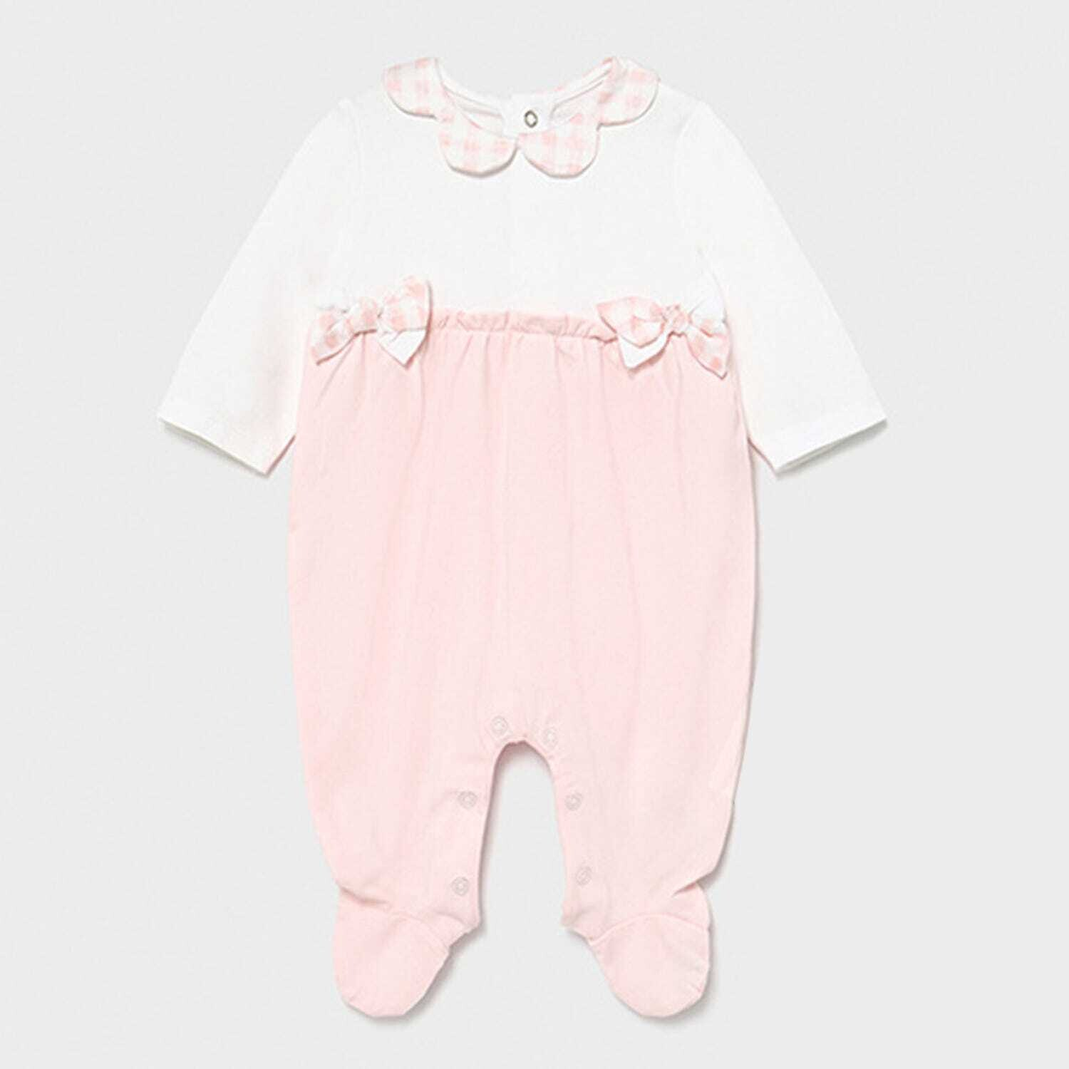 Gingham Bows Footie 1605