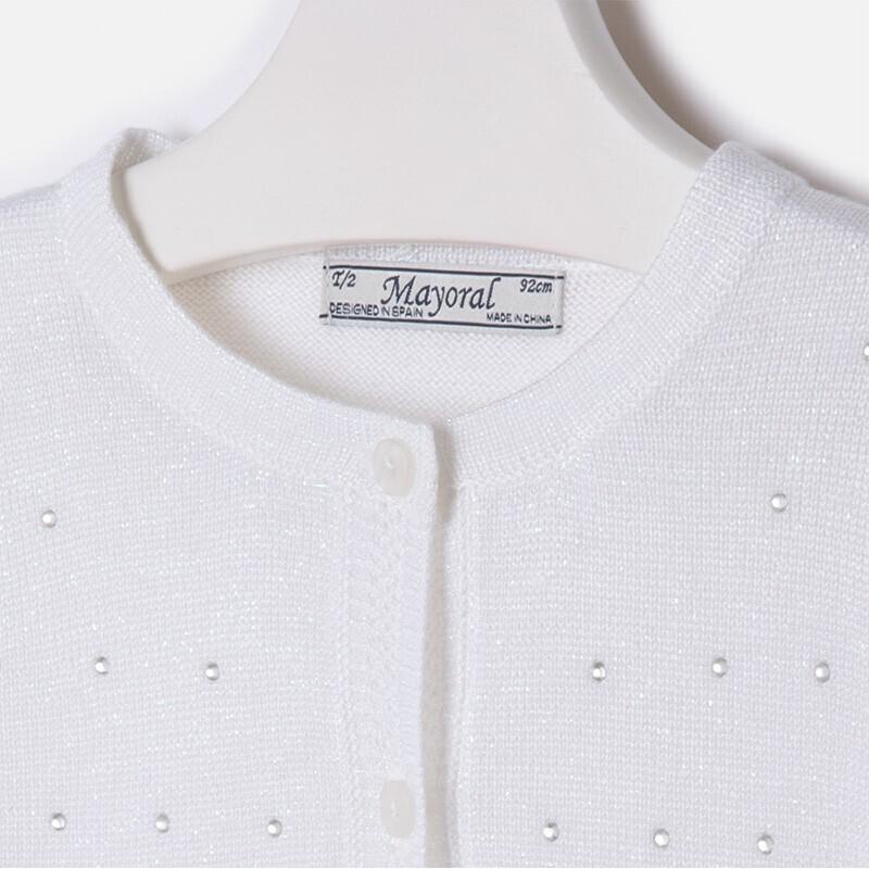White Glitter Shrug Sweater 3309N-6