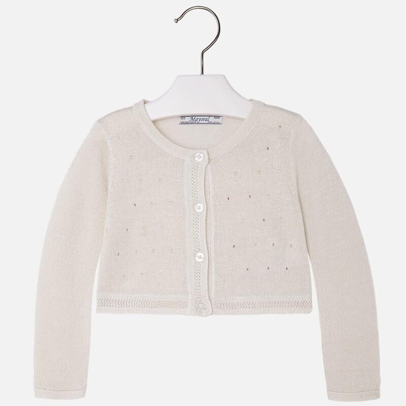 Pale Gold Glitter Shrug Sweater 3309N-2