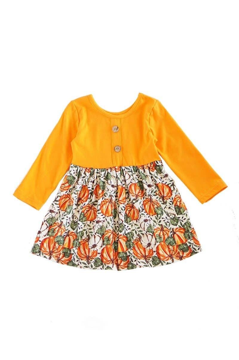 Pumpkin Print Dress