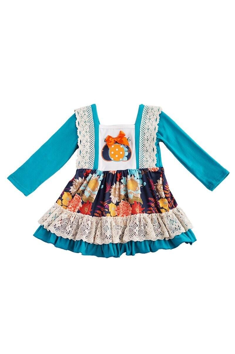 Teal Pumpkin Lace Dress
