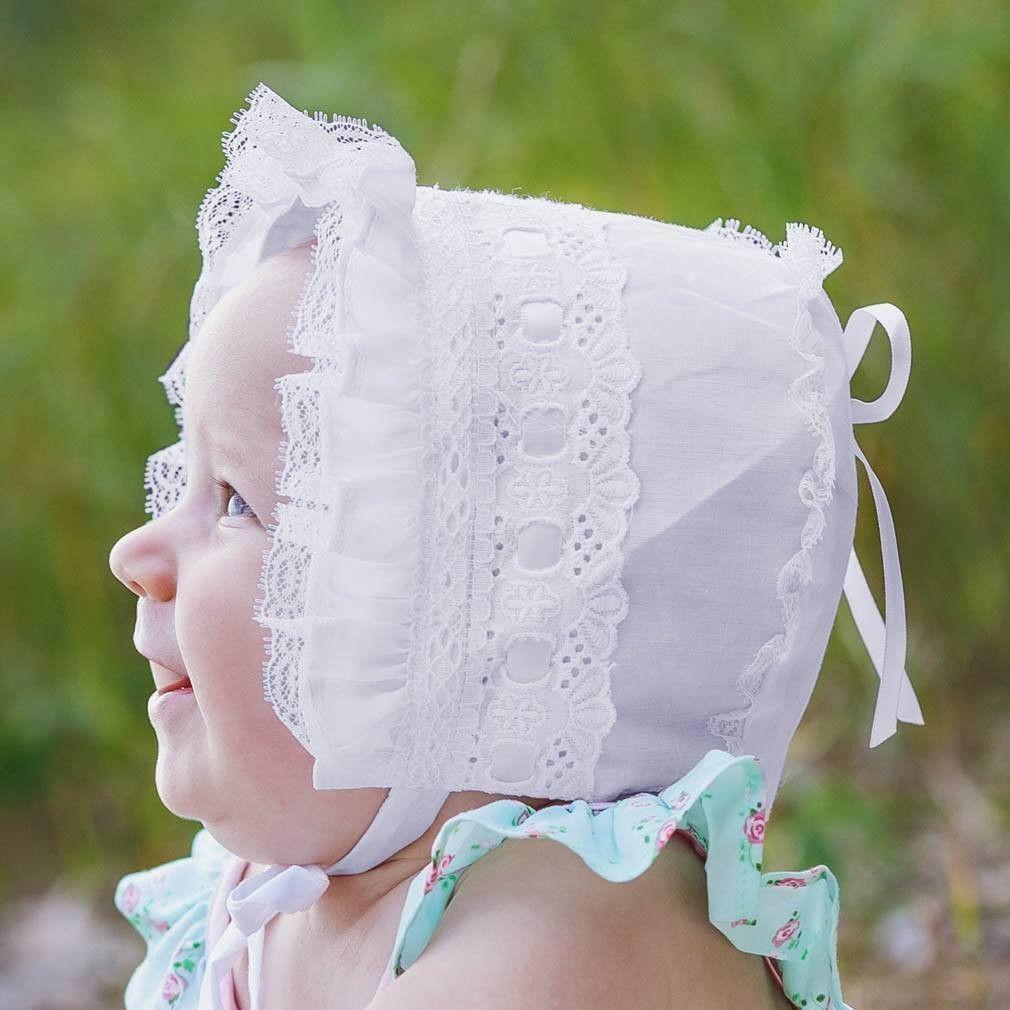 White Ribbon Bonnet