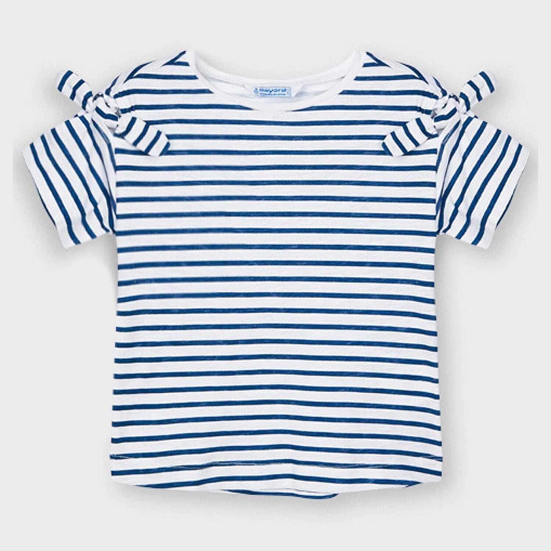 Navy Striped T- Shirt 3009
