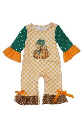 Ruffled Pumpkin Romper