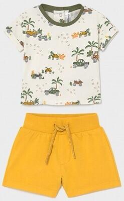 Safari Print Shorts Set 1657