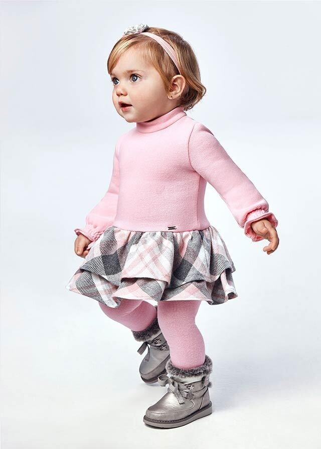 Pink Check Dress 2908