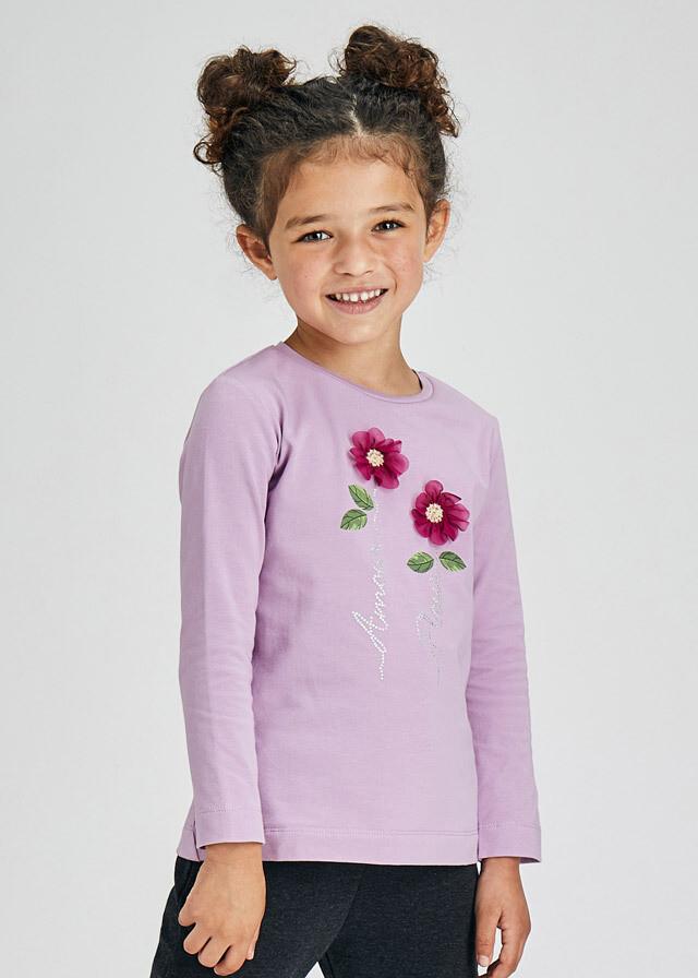 Lavendar Flower Shirt 4013