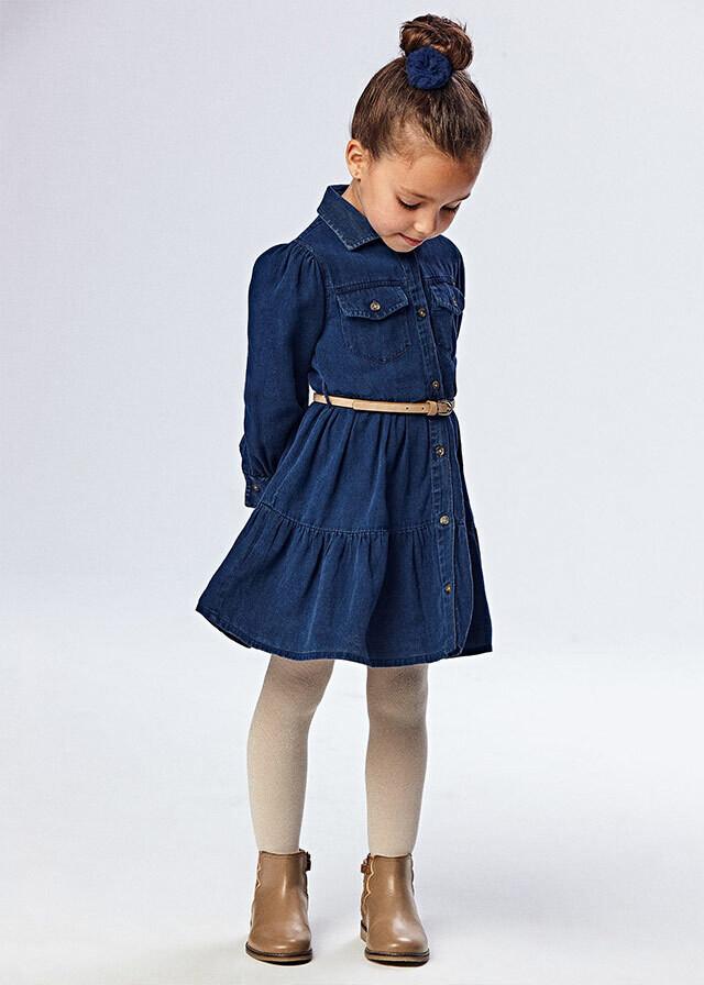 Belted Denim Dress 4933
