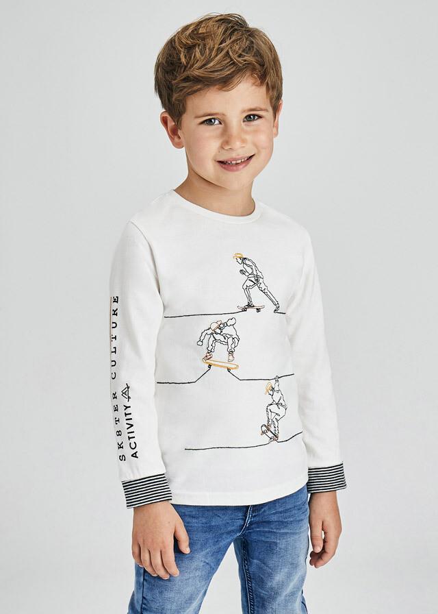 Skater Embroidered Shirt 4072