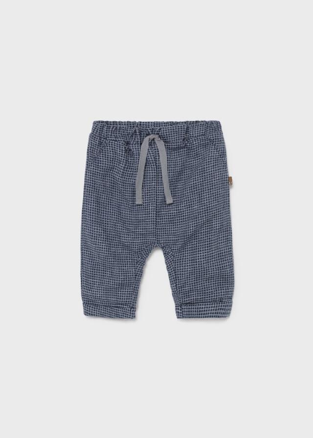 Navy Check Pants 2519