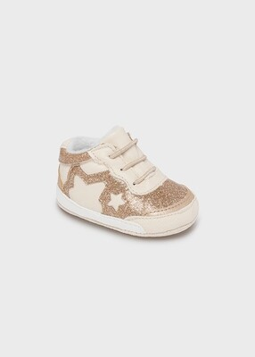 Gold Glitter Sneakers 9458