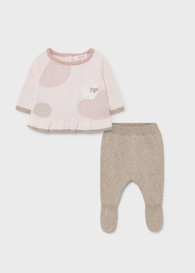 Pink Tricot Sweater Set 2502