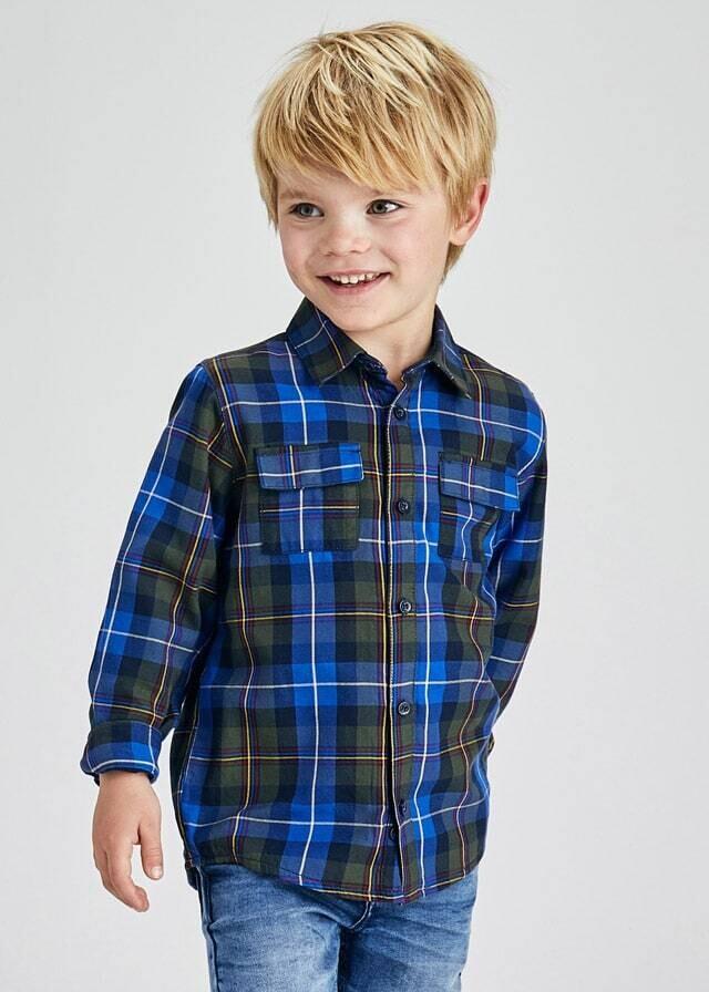 Blue Plaid Overshirt 4162