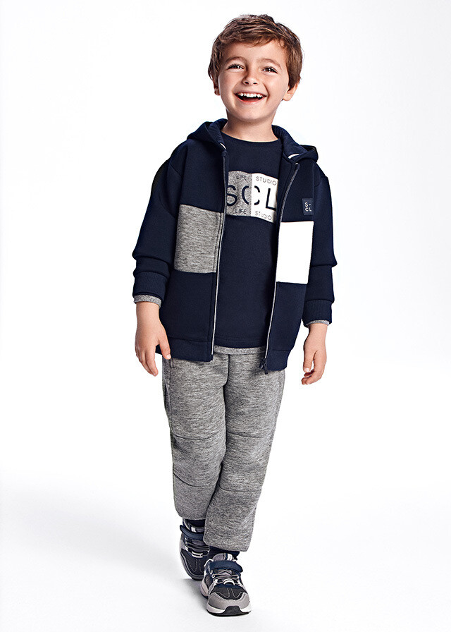 Navy Hooded Tracksuit 4836