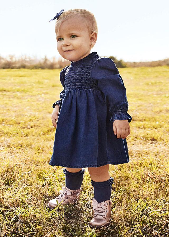Smocked Denim Dress 2922