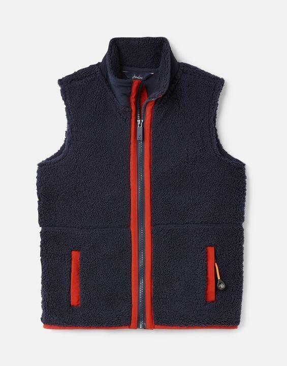 Rueben Navy Fleece Vest
