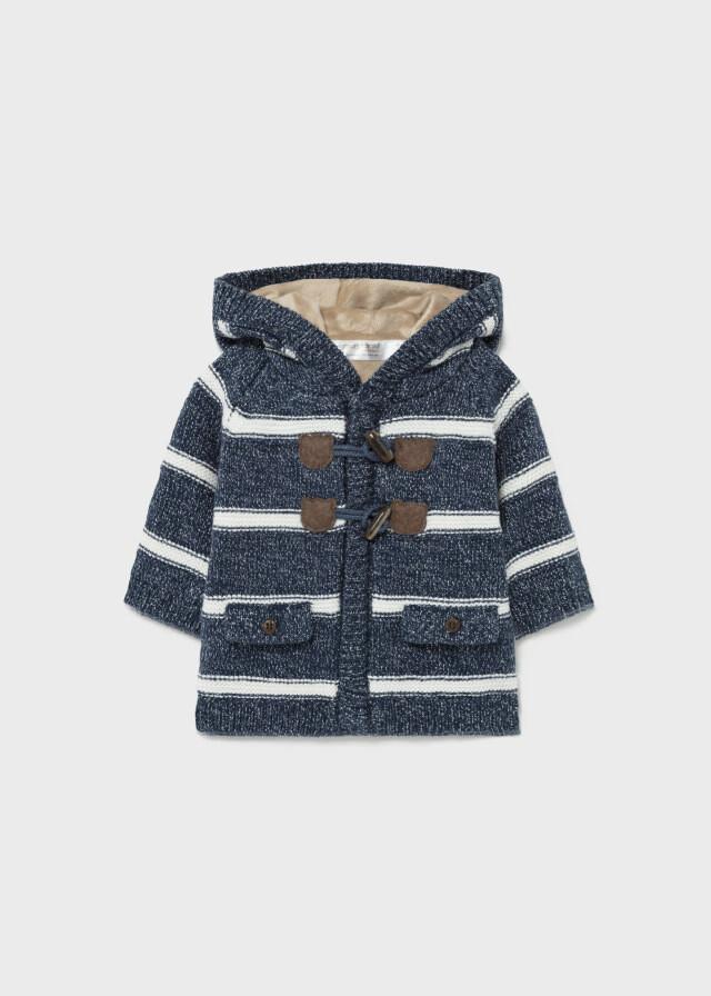 Striped Hooded Knit Jacket 2367