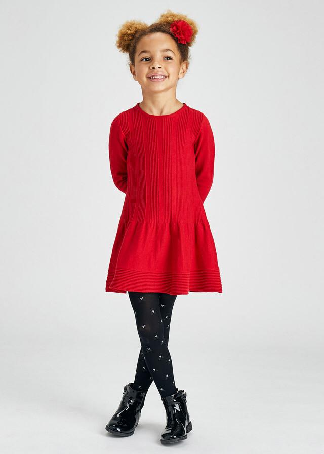 Red Tricot Knit Dress 4925
