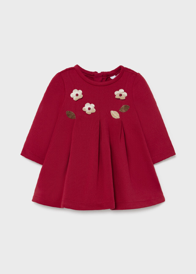 Red Appliqued Dress 2815