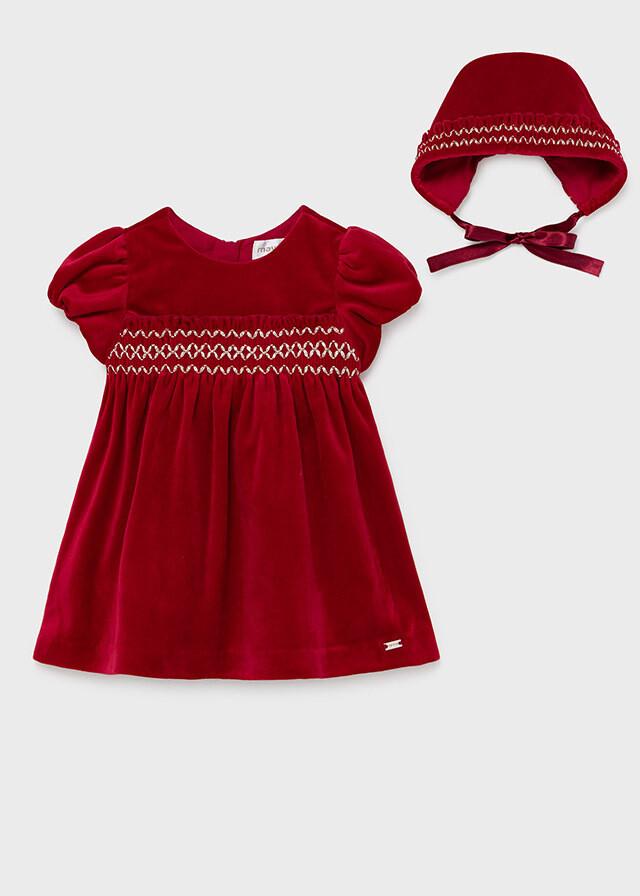 Velvet Dress & Hat 2819
