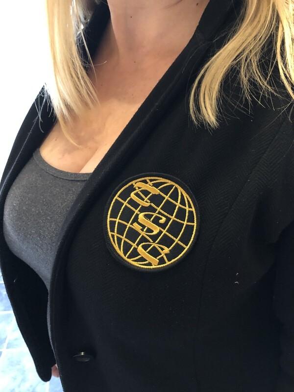 TSC Gold Embroidered Blazer Badge